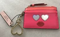 Victoria's Secret Pink Keychain Zippered Coin Pouch ID Card Holder New.