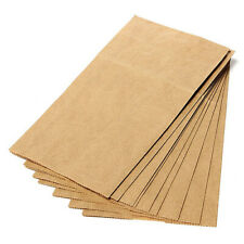 100 pcs Kraft Paper Cookie Candy Package Gift Bags Cellophane Party