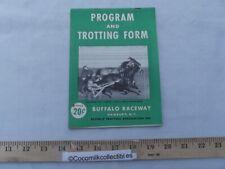 1946 Official Program Buffalo Raceway Hamburg NY Harness Horse Racing Track Race