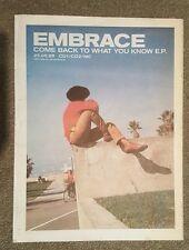 Embrace Volver a la lo que usted 1998 edición anuncio Completo páginas 30 x 40