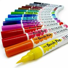 Talens Ecoline Watercolour Dye-Based Ink Artist Brush Pens 60 Colours Available