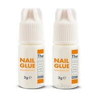 2x 3g False Nail Adhesive Glue The Edge UV Gel Acrylic Nails- Anti Fungal