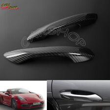 Dry Real Carbon Fiber Door Handle Cover Trim Fo Porsche 718 Boxster Cayman 16-20