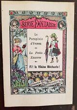 LE PARAPLUIE D'YVONNE. Livret IMAGERIE d' EPINAL PELLERIN - SERIE FANTAISIE