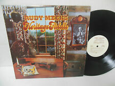 RUDY MEEKS exc old time fiddle music vinyl lp HERITAGE FIDDLE