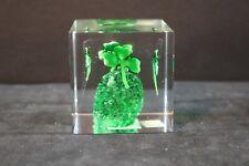 Irish - Blarney Stone Paperweight - Clover - Made in Ireland - Blarney Glass