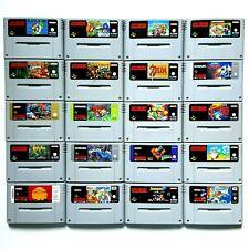 Super Nintendo SNES Spiele Mario Zelda Street Fighter Kirby Donkey Kong Mana uvm