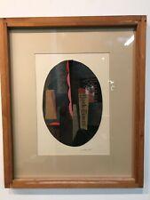 "Listed Artist Seymour Zayon Mixed Media Acrylic on Newsprint ""Construction #23"""