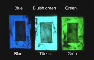 Polvo de luminiscencia, polvo iluminante, pigmento iluminante turquesa 50 g