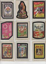1975 Topps Wacky Packages 13th Series 13 Complete Sticker Set 30/30 NM-