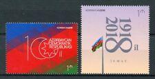 Azerbaijan 2018 MNH Republic 100th Anniv 1v Set National Emblems Flags Stamps