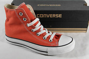 Converse All Star Ankle Boots Sneakers Trainers Orange, Textile/Canvas, New