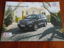 Toyota Land Cruiser V8 range brochure Jul 2012