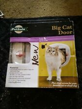 New listing PetSafe Big Cat or Small Dog Door 4-Way Locking White Up to 25lbs New In Box
