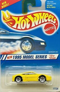 1995 Hot Wheels New Models Series #10 of 12 Yellow Ferrari 335 Collector # 350