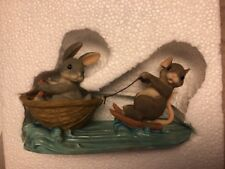 Charming Tails A Day at the Lake 83/803 Fitz & Floyd Water Skiing Dean Griff Nib