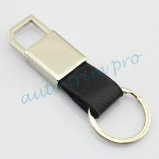 Auto Car Accessories Leather+Steel Key Chain Ring Holder Keyring Fashion Gift