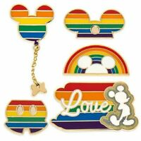 Disney Store Mickey Mouse Rainbow Pride Limited Release Pins Brand New