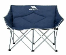 Trespass Double Seat Steel Frame Folding Chair with Carry Bag New free delivery