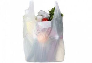 White Vest Carrier Plastic Bags For Markets Shopping Supermarket
