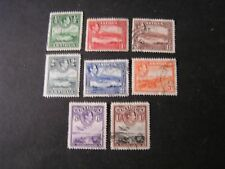 ANTIGUA, SCOTT # 84-91(8), 1/2p TO 1-.VALUE 1938-51 KGV1 PICTORIAL ISSUE USED