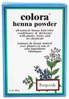 Colora Henna All Natural Organic Powder Hair Color 2oz  BURGUNDY