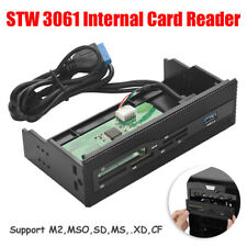 """5.25"""" Multifunctional Media Dashboard USB 3.0 PC Front Panel Momery Card Reader"""