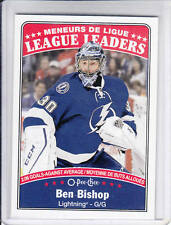 16/17 OPC Tampa Bay Lightning Ben Bishop League Leaders card #654