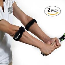 2 Packs Tennis Golf Elbow Brace Support Adjustable Elbow Strap Sport Sleeve