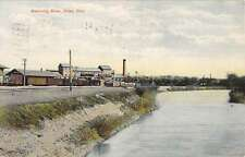 Niles Ohio Mahoning River Waterfront Antique Postcard K37465