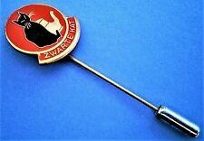 H219*) Vintage enamel Zwarte Kat Black Cat Coffee Tea Advert tie lapel pin badge