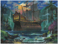 Disney Fine Art Limited Edition Canvas The Duel-Peter Pan-James Coleman