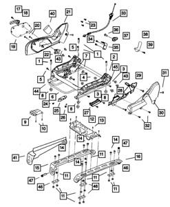Genuine Mopar Seat Adjuster Shield 1BG401D5AA