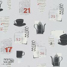 New Rasch Tiles & More - Grey - Coffee Mugs - Textured - Luxury Wallpaper 885613