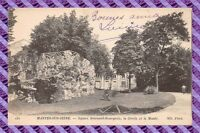 CPA 78 - Nantes sur seine - square Brieussel-Bourgeois, la grotte et le Musée