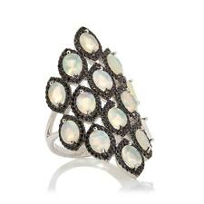 Rarities Carol Brodie Ethiopian Opal And Black Spinel Sterling Ring Size 7 HSN