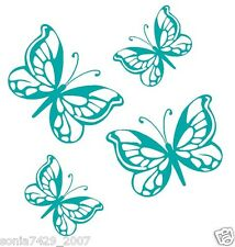 Butterfly Family Vinyl Graphic Decal Car Window Sticker Cute Funny TURQUOISE