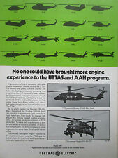 10/1977 PUB GENERAL ELECTRIC T700 HELICOPTER ENGINE UTTAS UH-60A AAH YAH-64 AD