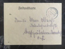 Sep 4 1939 Annweiler Germany Feldpost Postcard Cover Notice of Address Bornsdorf