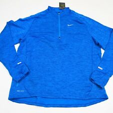 $85 Men's Nike Nike Element Sphere Half-Zip L/S Shirt Size XXL Blue Style 683906