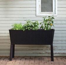 Patio Garden Bed Flower Plant Planter Raised Elevated Indoor Outdoor Water Basin