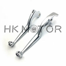For Honda Shadow 600 750 1100 VTX1300 VT1300 VTX VT 1300 CHROME SKULL LEVERS