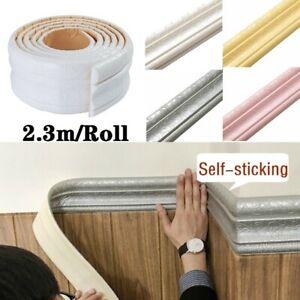 3D Waterproof Rustic Wall Sticker Tile Baseboard Self-Adhesive Vintage Borders-