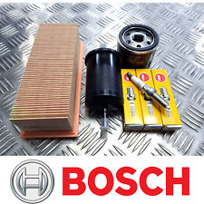 BOSCH SERVICE KIT for Renault Clio 1.2 16V D4F712 Oil Air Fuel Filters Plugs 200