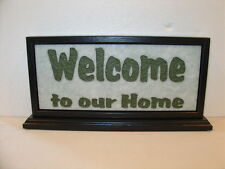 Handmade Art Sandblast Welcome To Our Home Lighted Display  Gift Marble