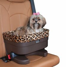 Pet Gear Small Dog Raised Car Seat carrier in Chocolate/Jaguar with plush pad