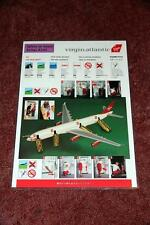 Virgin Atlantic Collectable Airline Safety Cards