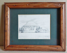 "John Moll ""Jefferson Memorial and Washington Monument"" Small Print Framed"