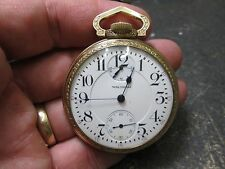 WALTHAM VANGUARD 23 JEWELS WIND INDICATOR MENS FANCY CASE RUNNING Pocket Watch