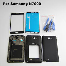 Black replacement parts 4 in 1 lcd screen glass for samsung galaxy note 1 n7000